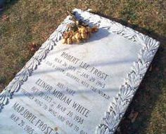 """Robert Frost Grave,Old Bennington Cemetery, Vermont """"I had a lover's quarrel with the world"""""""