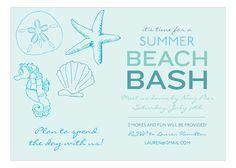 Ocean Blue Icons Invitation.
