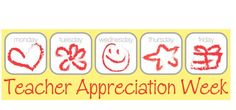 Teacher Appreciation Week! From the PTO Today Clip Art Gallery.