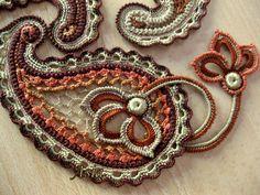 Paisley irish crochet, lace, proyecto crochet, patterns, inspiration, paisley crochet, crochet motif, crochet paisley pattern, freeform crochet