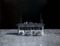 "François Bard, Plateforme, 2014, Oil on Canvas, 76¾"" x 98½"" #Art #BDG #BDGNY #Contemporary #Painting #Urban #Landscape"
