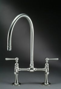 Deck-Mounted Bridge Mixer with Articulated Spout