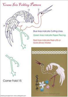 Crane Iris Folding Pattern