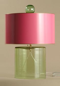 Cute pink and green lamp!
