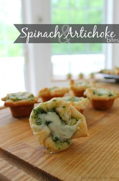 Eat Drink & Be Mary: Spinach & Artichoke Bites