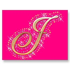 Pink Postcard with Initial J