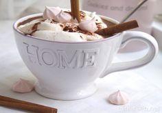 Cocoa with vanilla  and cream