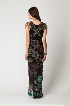 Free people. Crochet dress.