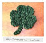 One Piece Crochet Shamrock - free crochet pattern
