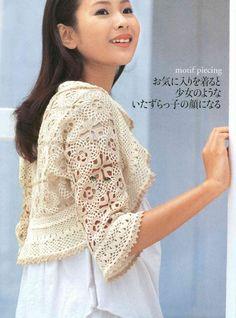 Crochet bolero. Pattern