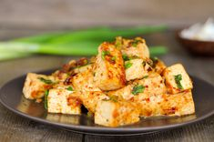 very simple Thai-inspired dishes, tofu with roasted chili paste