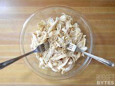 Easy Shredded Chicken - Budget Bytes