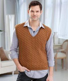Free Crochet Pattern Mens Vest : crochet / knitting - men on Pinterest Mens Knits, Vest ...