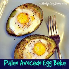 Paleo Avocado Egg bake #paleo #cleaneating #glutenfree
