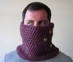 mens crochet cowl