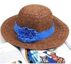Wholesale Fashionable & Hot Pure Color Flower Decorative Hat----Coffee  top dresses