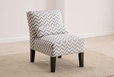 chevron armless chair