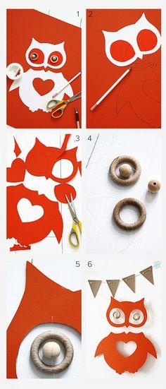 Een uiltje knappen - Make an owl  Kijk op www.101woonideeen.nl #tutorial #howto #diy #101woonideeen #uiltje #owl
