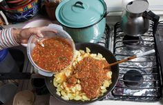 Papas en Chile Rojo (Potatoes in Red Salsa)  Recipe - Saveur.com