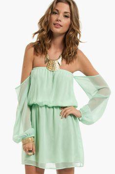 Flaunt It Off Shoulder Dress $40