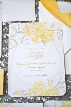 Gorgeous Save-the-Date by Wedding Paper Divas