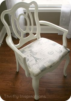 French Provincial Capain's Chair