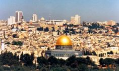 The always amazing view of Jerusalem as you arrive to the Holy Land