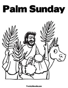 Palm Sunday Coloring Page from TwistyNoodle.com