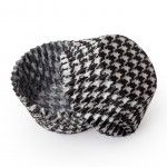 Black Houndstooth Cupcake Liners, Standard Size Baking Cups BULK (500 Liners)