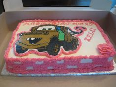tow+truck+cakes   Mater tow truck cake