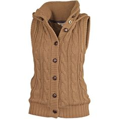 Amy Knitted Gilet ($73) found on Polyvore