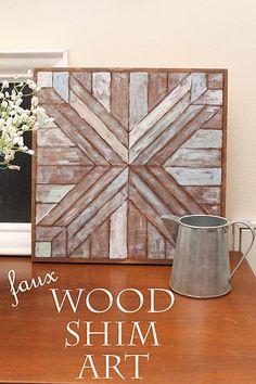 Faux Wood Shim Art