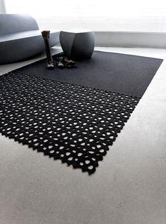 River Rock carpet (die cut wool felt rug)