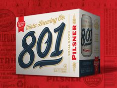 Uinta Brewing 801 Pilsner by Emrich Co. uinta brew