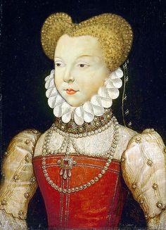 Marguerite de Valois aka Reine Margot, daughter of Catherine de Médicis, sister of Henri III and wife of Henri IV.