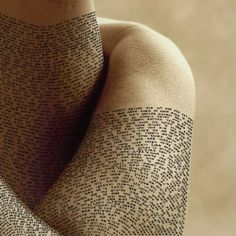 Israeli Artist Ronit Bigal Covers Human Body With Detailed Calligraphy