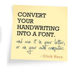 Convert your handwriting into a font!