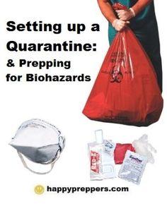 How to set up a quarantine. Pandemic preparedness.