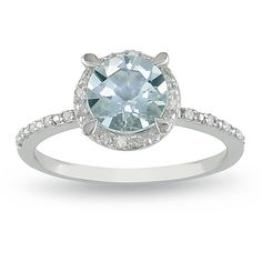 @Overstock - Aquamarine and diamond accent ringSterling silver jewelry  Click here for ring sizing guidehttp://www.overstock.com/Jewelry-Watches/Miadora-Sterling-Silver-Aquamarine-and-Diamond-Accent-Ring/5618221/product.html?CID=214117 $66.99