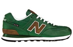 New Balance 574.  Here is another pair of vintage type tennis shoe.  I like the color of these.