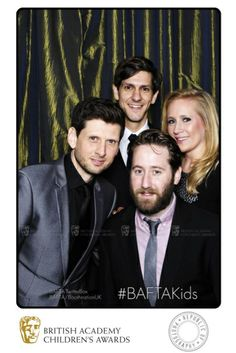 Horrible Histories (inc. Jim Howick & Mathew Baynton) celebrate their win backstage at the BAFTA Children's Awards in the BAFTA TwitterBox