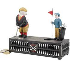 mechanical golf coin bank