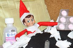 Elf on the Shelf is sick
