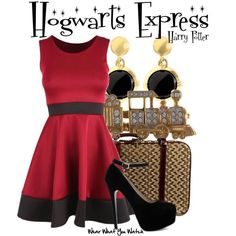 Inspired by the Hogwarts Express from the Harry Potter franchise.