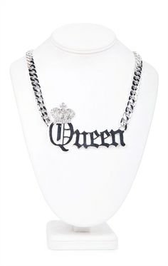 Deb Shops Queen Statement Necklace with Crown