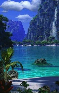 Paradise Lake, Wakatipu, Otago, South Island, New Zealand -