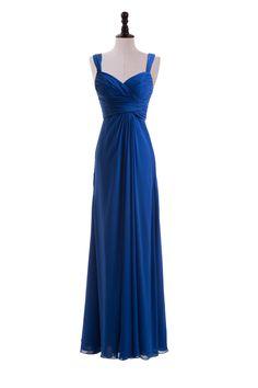 Sweetheart Straps Chiffon Dress