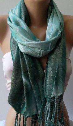 Green   Silk Shawl / Scarf -16.90