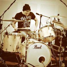 Very aggressive drumming