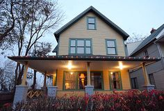 A Christmas Story House, now restored to its movie splendor, is open year round to the public for tours in Cleveland, OH.